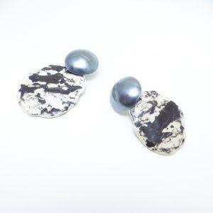 TonOhr Silber oxidiert